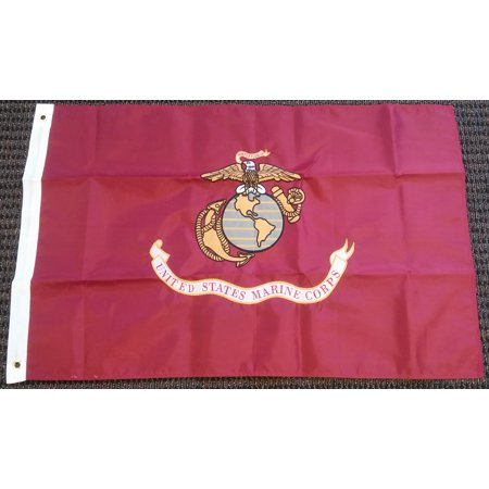 United States Marine Corps USMC Double Sided Embroidered Nylon 2 x 3 Foot Flag