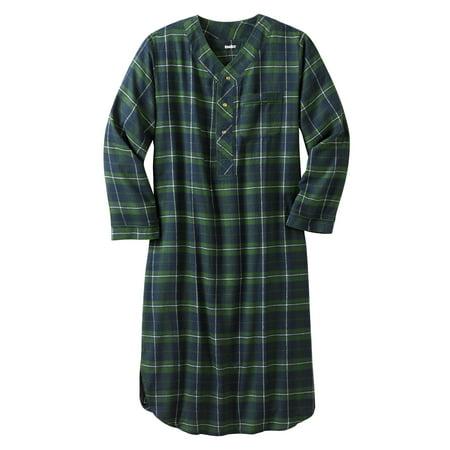 Big And Tall Plaid Robe - Men's Big & Tall Plaid Flannel Nightshirt