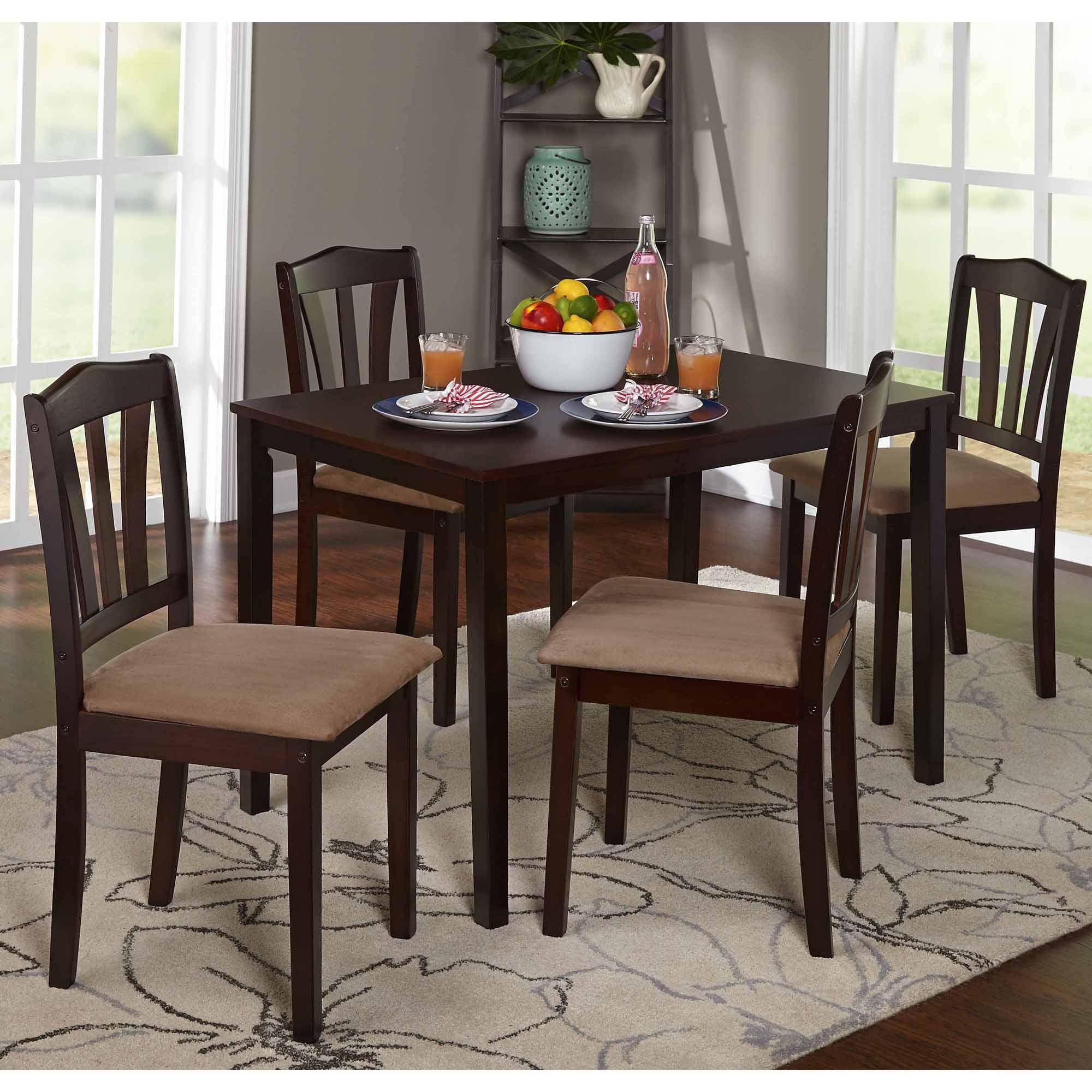 Mainstays 5 Piece Counter Height Dining Set Black Walmart