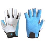 Harbinger HumanX Women's X3 3/4 Finger Competition Lifting Gloves - Blue/Gray