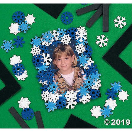 Snowflake Picture Frame Magnet Craft Kit
