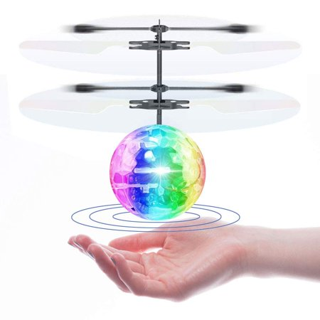 Flying Ball Toy, RC Infrared Induction Helicopter Ball Drone, Built-in LED Lighting for Kids, Teenagers Colorful Flying Drone for Kid and Adults ()