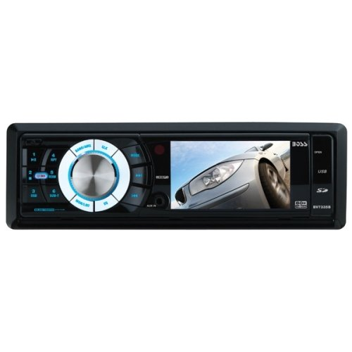 "Boss BV7335B Car DVD Player - 3.2"" LCD Display - 320 W RMS - iPod/iPhone Compatible - In-dash - Single DIN - DVD Video, MPEG-4, Video CD, SVCD, SDVD - AM, FM - Secure Digital (SD) - Bluetooth -"
