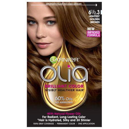 Garnier Olia Permanent Haircolor, Lightest Golden Brown 1.0 ea(pack of 4)