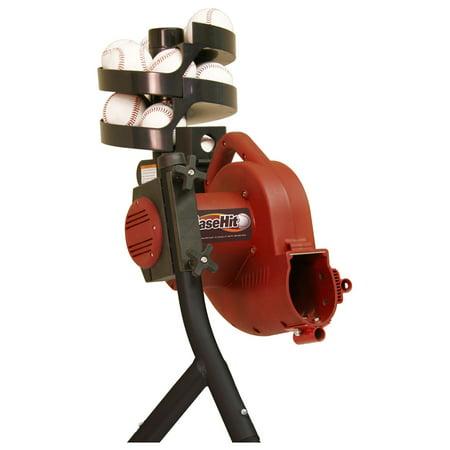Real Ball Pitching Machine (Heater Sports BaseHit Baseball Pitching Machine with BONUS Ball)