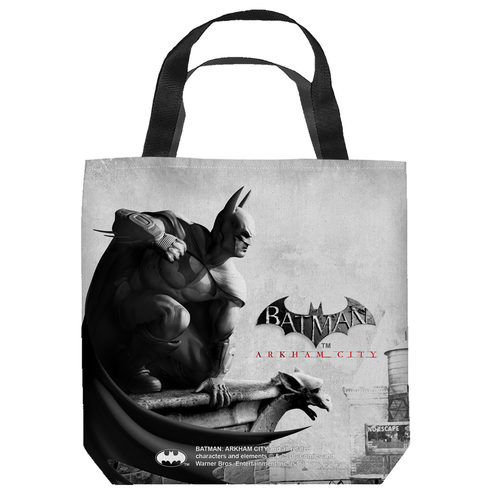 Batman Arkham City Ac Logo Tote Bag White 9X9