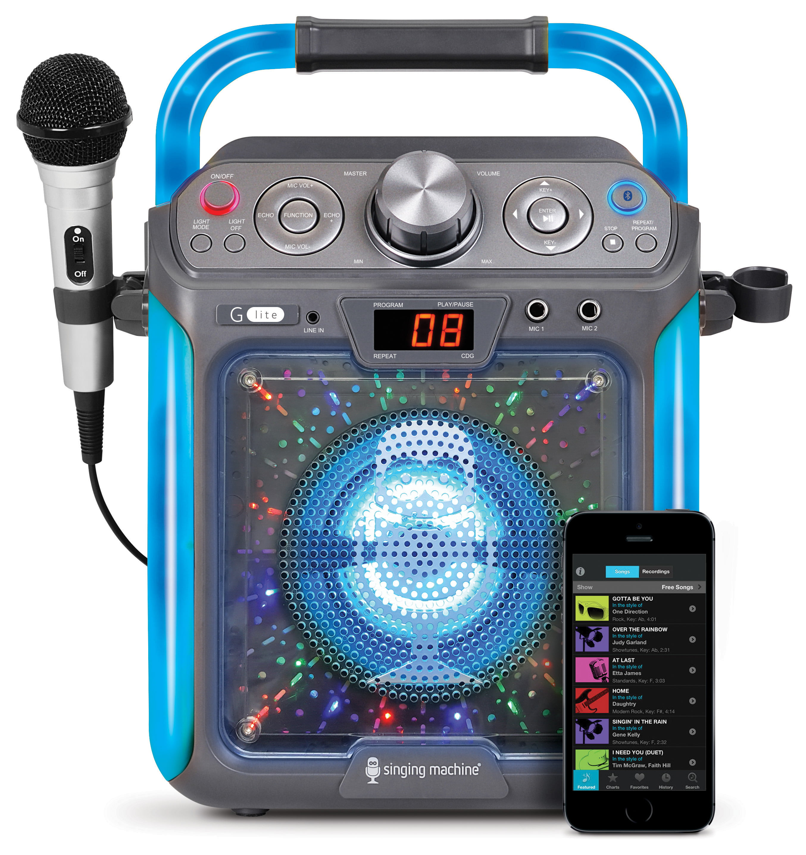 Singing Machine SML2082BTC Bluetooth G-Lite CD+G Karaoke System by The Singing Machine