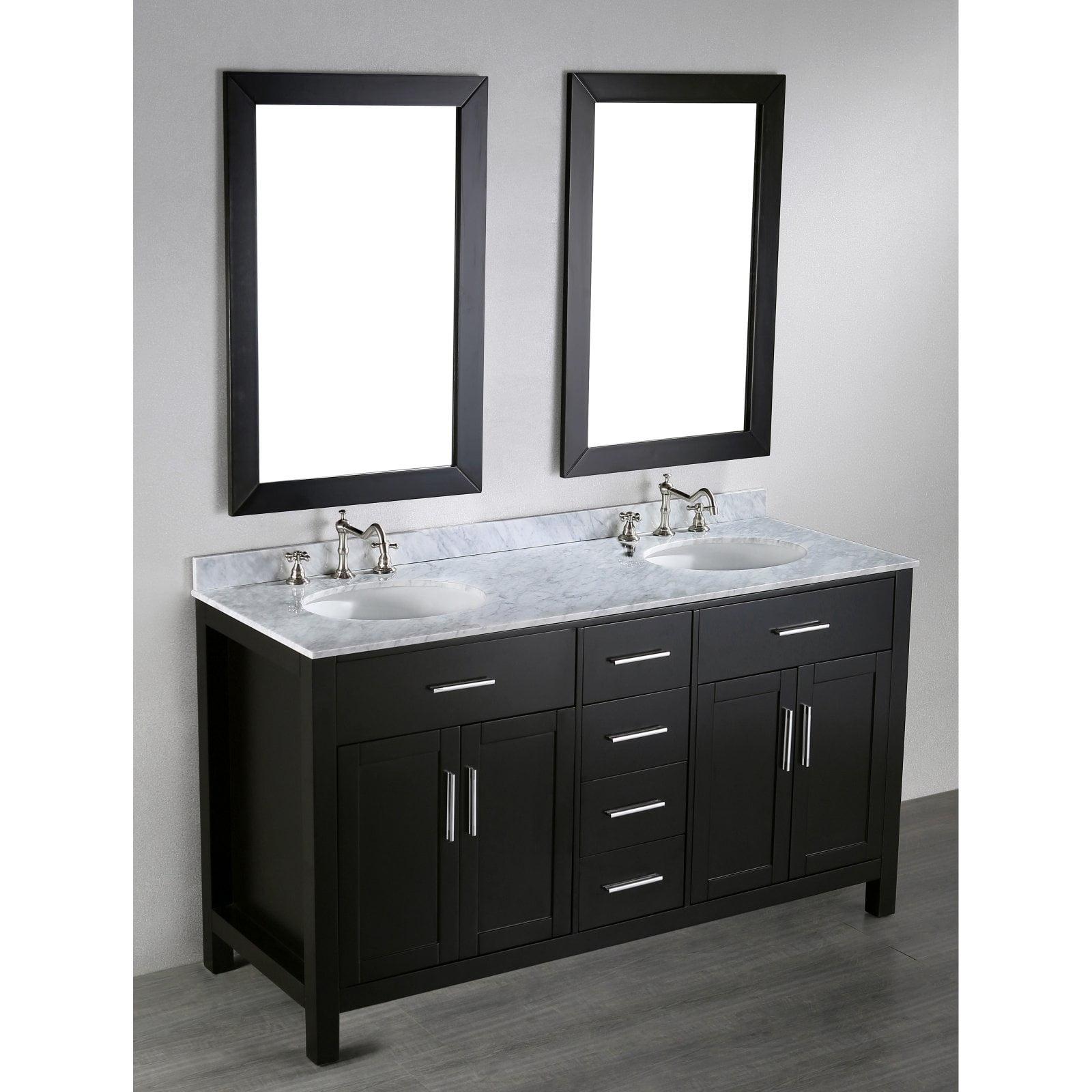 60'' Bosconi SB-252-4 Contemporary Double Vanity
