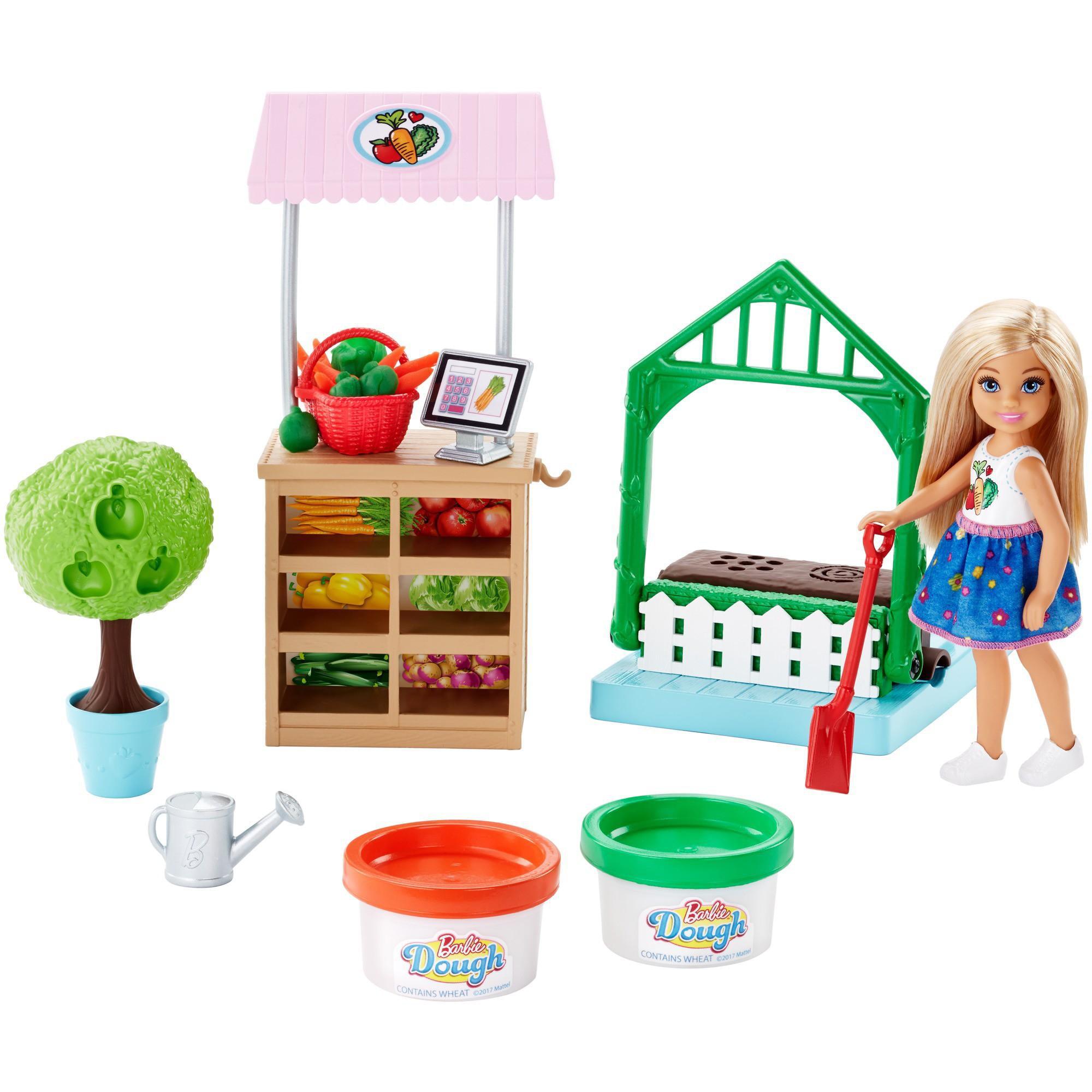 Barbie Chelsea Cooking & Baking Veggie Garden Doll & Playset