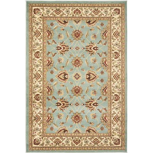 Charlton Home Silvera Blue/Ivory Persian Area Rug