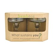 Bambeco Rainbow Recycled Margarita Glass Case of 6 by Bambeco