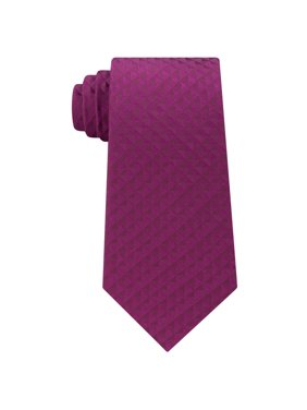 Calvin Klein Mens Optic Geometric Self-tied Necktie, Pink, One Size