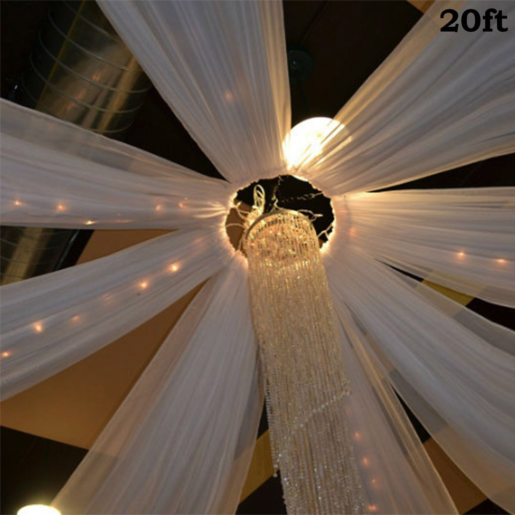 Balsacircle 20 Feet Long Premium Sheer Voile Ceiling Draping Panel Wedding Ceremony Party Home Decorations Walmart Com Walmart Com