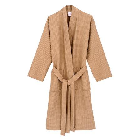 Cashmere Womens Robe - TowelSelections Women's Robe, Kimono Waffle Spa Bathrobe