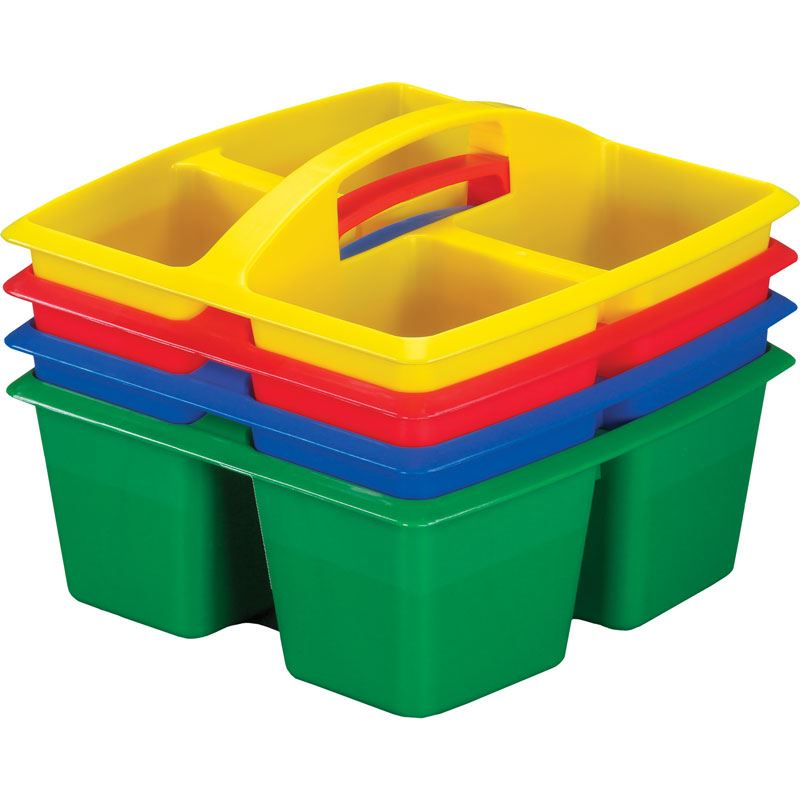 Four Equal Compartment Caddies - Set Of 4