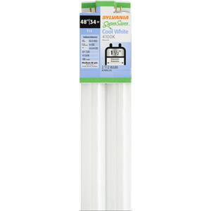Sylvania 22462 Fluorescent Light Bulb, 34 W, 120 V, T12, Medium Bi-Pin (G13), 20000 hr