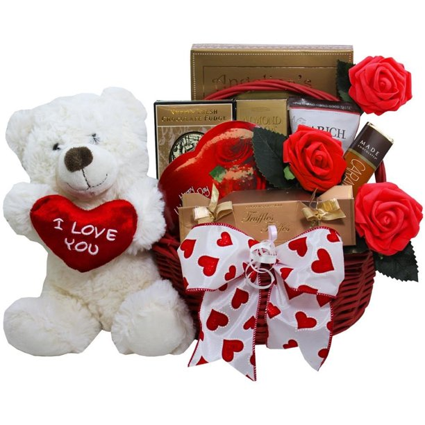 Day Chocolate and Candy Gift Basket