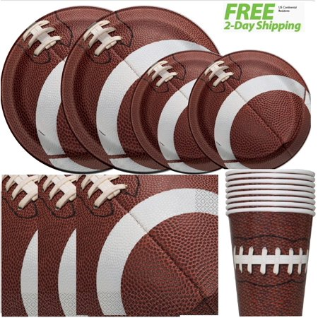 Football Birthday Party Table Supplies for 16 Guests - Shipped Fedex Express