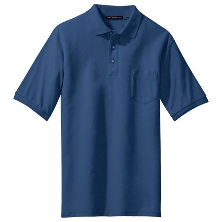 Port authority men 39 s big and tall silk touch pocket polo for Big and tall polo shirts with pockets