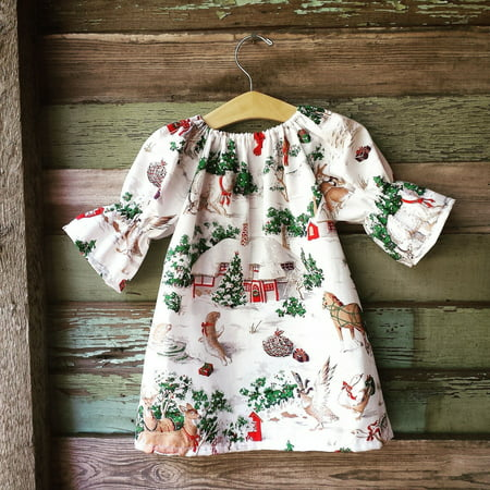 Christmas Toddler Kid Baby Girls Xmas Wildlife Print Costume Cute Floral Dresses (Christmas Dress Up For Kids)