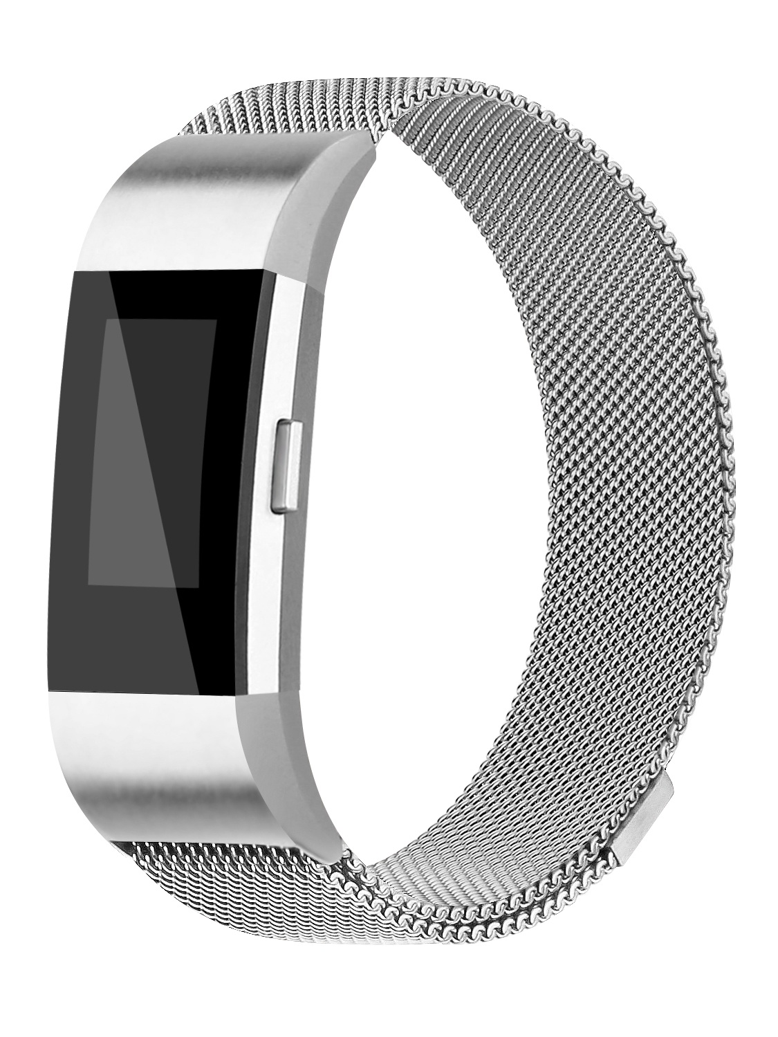 Adepoy Replacemnt Bands for Fitbit Charge 2 Milanese Stainless Steel Bracelet with Strong Magnet Lock