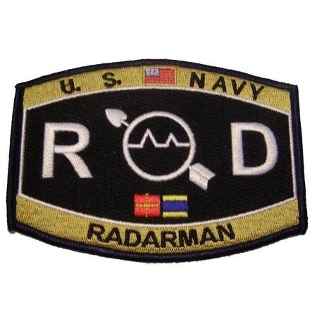 USN NAVY RD RADARMAN MOS RATING PATCH SAILOR VETERAN