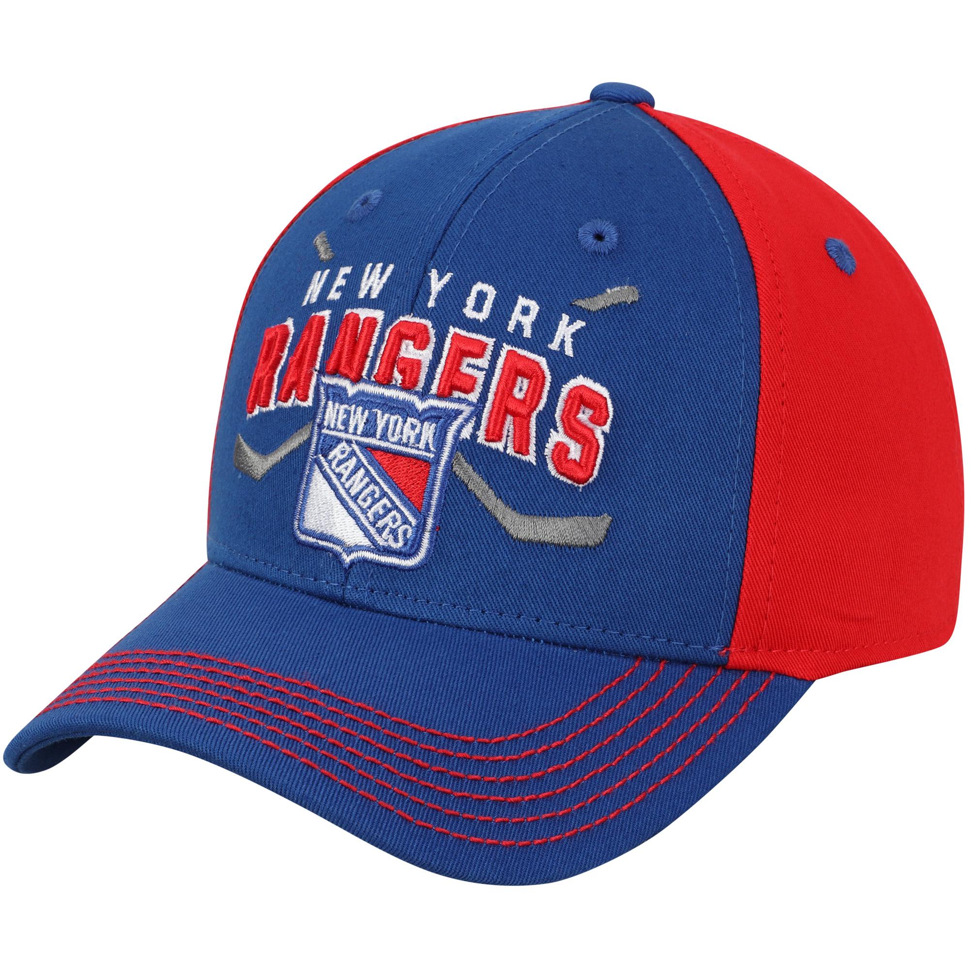 New York Rangers Youth Faceoff Adjustable Hat - Royal - OSFA