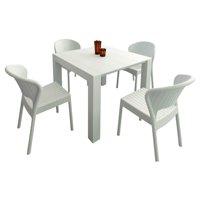 Compamia Daytona Polypropylene 5 Piece Patio Dining Set with Extendable Table