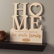 Home Is Where The Heart Is Personalized Wood Plaque