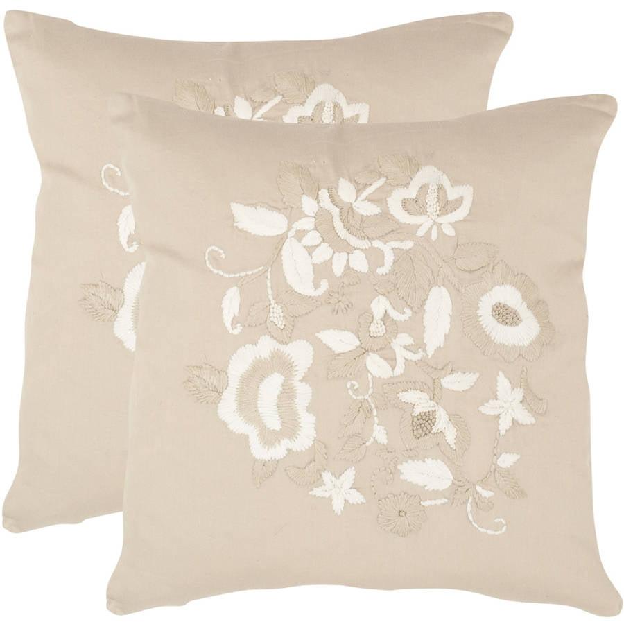 Safavieh April Beige Pillow, Set of 2