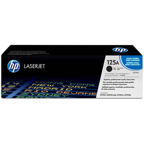 HP 125A (CB540A) Black Original Laser Jet Toner Cartridge