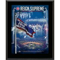 "Chicago Cubs Fanatics Authentic 10.5"" x 13"" 2017 Banner Raising Ceremony Sublimated Plaque - No Size"