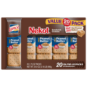 Lance Nekot Cookie Sandwiches, Peanut Butter - 20 Count