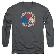 Beetle Bailey Red White And Bailey Mens Long Sleeve Shirt