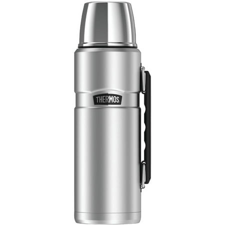 Thermos Stainless King Vacuum-Insulated Beverage Bottle, 40 oz, Stainless