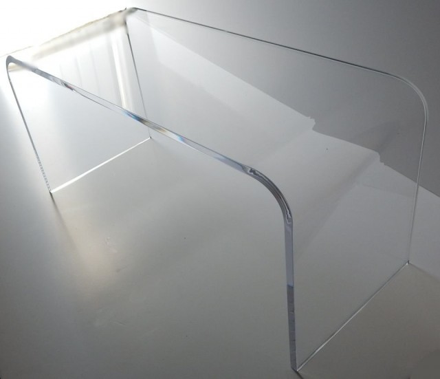 Acrylic Coffee Cocktail Waterfall Table Lucite 42 x 20 x 17 high - Walmart.com
