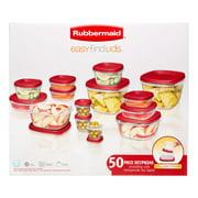 Rubbermaid Easy Find Lids Food Storage Set, 50 Count