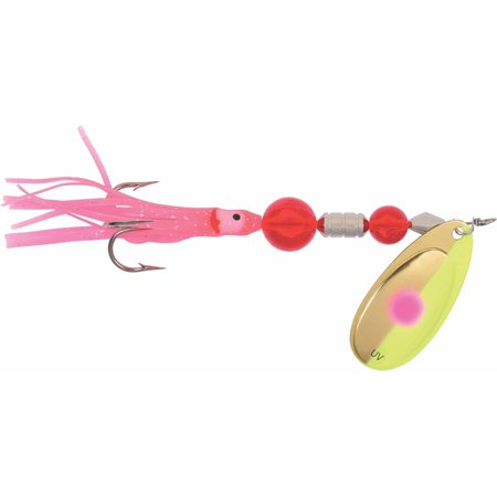 Yakima Bait Flash Glo Casting Squid Spinner (Best Bait For Tip Ups)