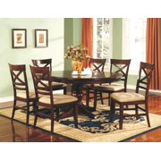 Topaz 7 Pc Pedestal Dining Set
