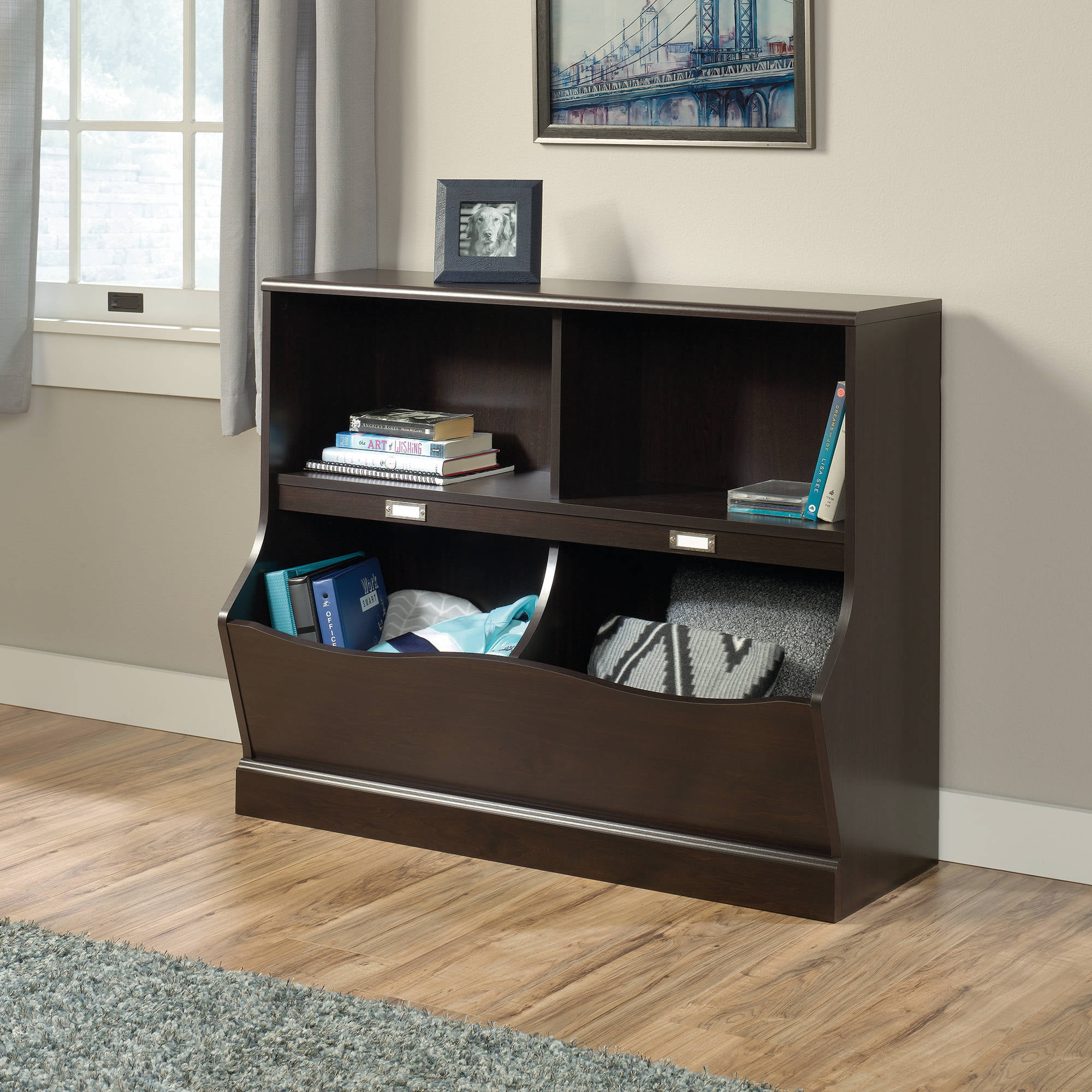 Sauder Storybook Storage Bin Bookcase Multiple Finishes
