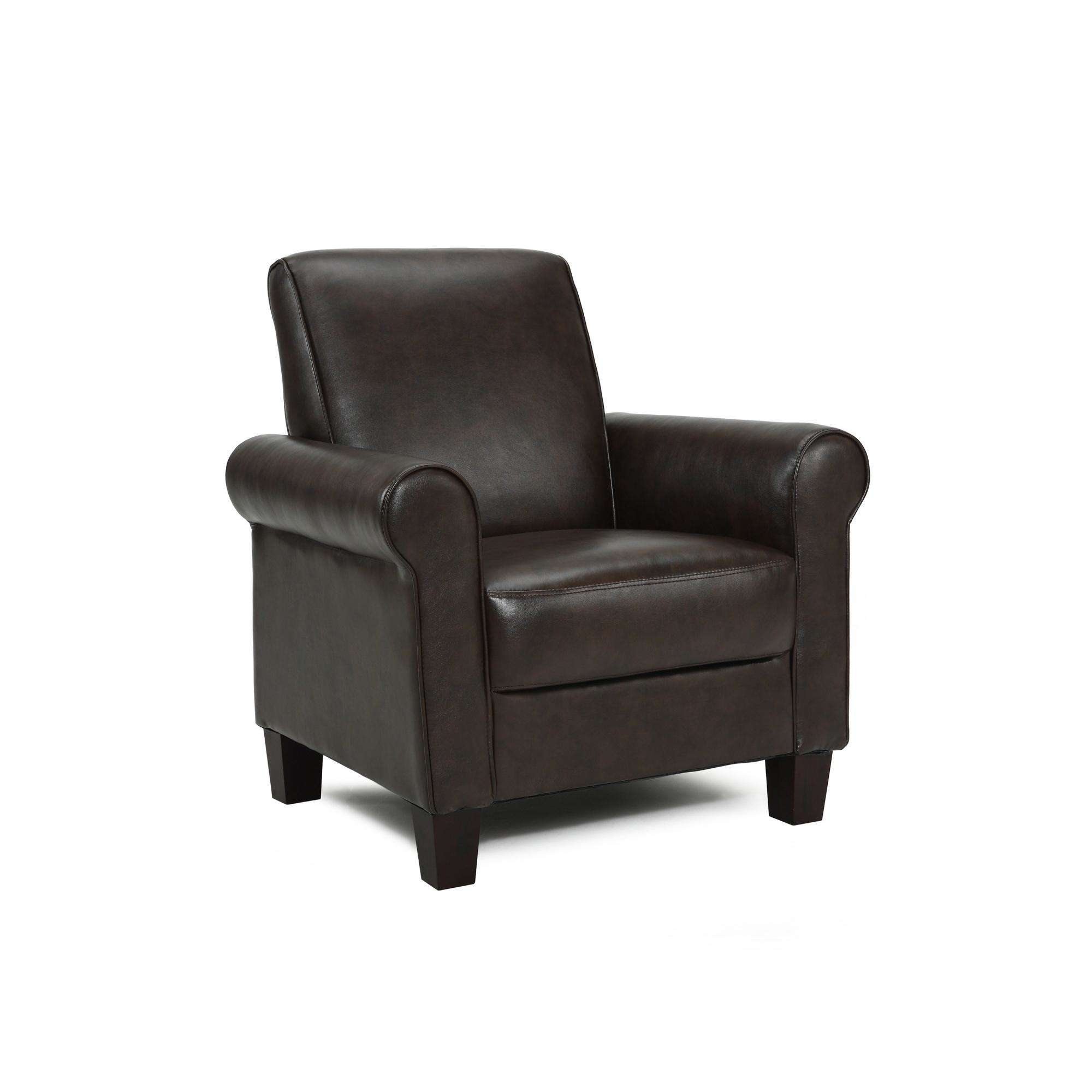 Nikella Leather Accent Chair: DHI Rollx Arm Accent Chair, Faux Leather, Multiple Colors