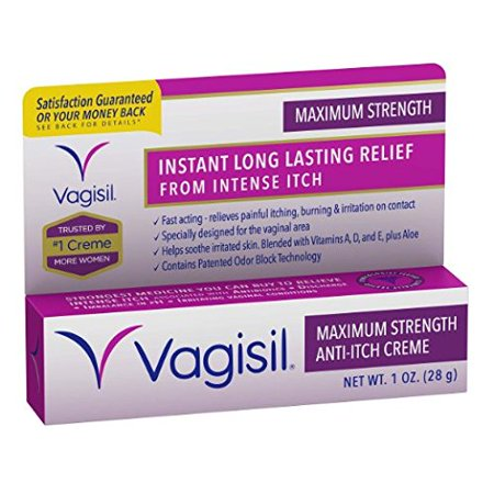 4 Pack - Vagisil Maximum Strength Anti-Itch Creme 1 oz