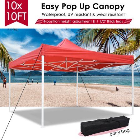 Yescom 10x10' Easy Pop Up Canopy Tent 420D Instant Shelter Party Wedding Folding Commercial Sun Shade w/ Carry Bag