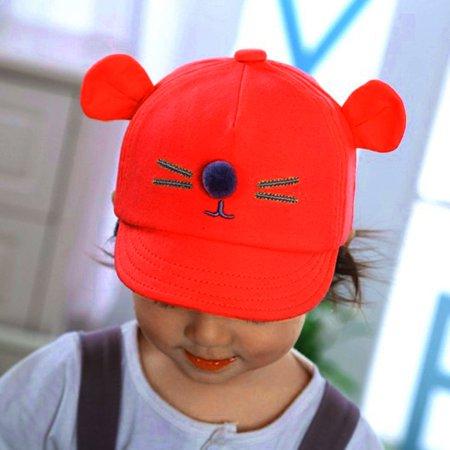2f67e98f Cartoon Cat Baby Hat Baseball Cap Cute Cotton Baby Boys Girls Summer Sun Hat  - image ...