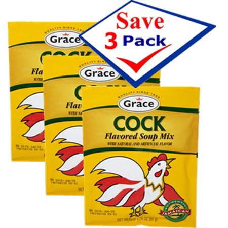 Cock flavored soup mix 1,76 oz. Pack of - Cock Soup