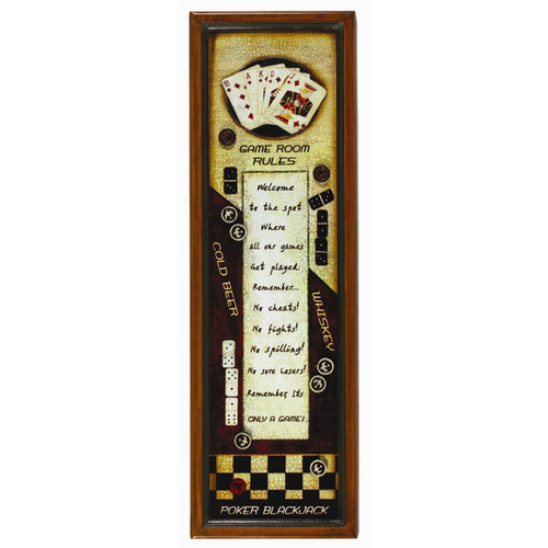 RAM Game Room Game Room Rules Pub Framed Graphic Art