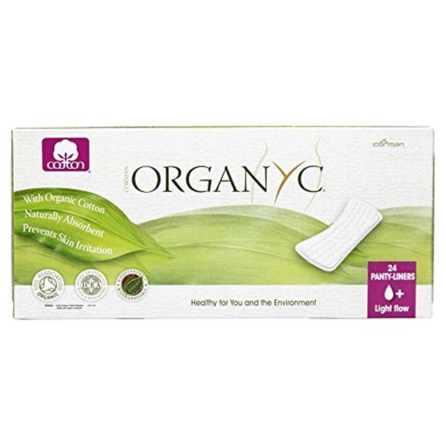 Organyc 0832527 Cotton Flat Panty Liners, Pack of 24