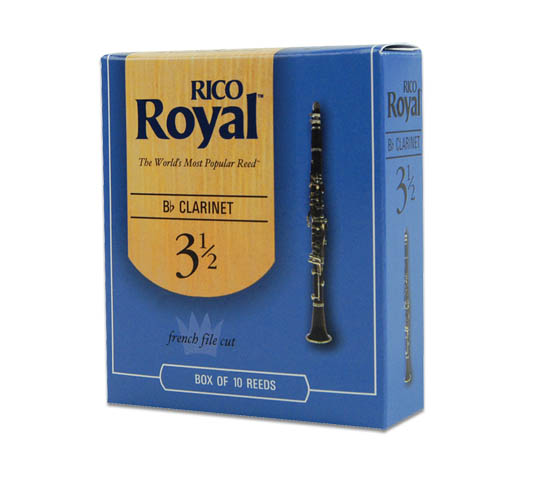Rico Royal Bb Clarinet 10 Box #3.5 Strength by Rico Royal