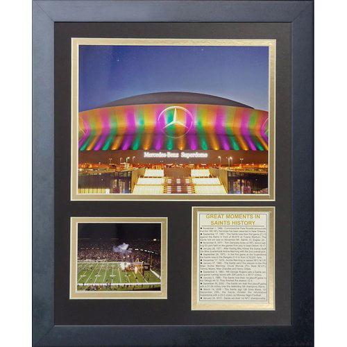 Legends Never Die New Orleans Saints Superdome Framed Memorabili