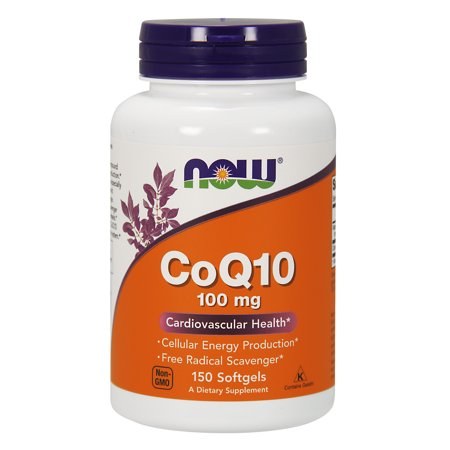 NOW Supplements, CoQ10 100 mg, Pharmaceutical Grade, 150 (5 Best Selling Coenzyme Q10 Supplements)